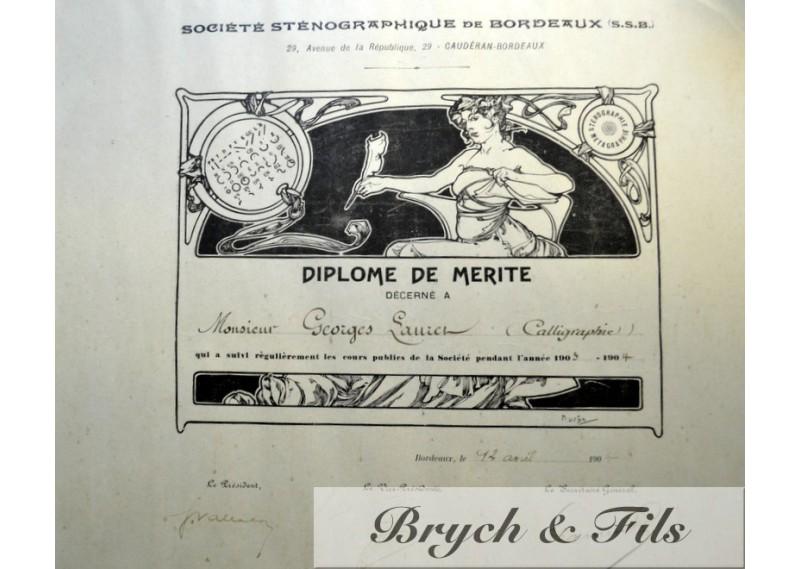 Diplome illustré 1904
