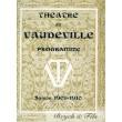 Théâtre du Vaudeville programme