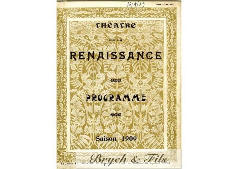 Théâtre de la renaissance Programme