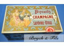 """Lefevre Utile """"boîte """"Biscuits Champagne"""""""