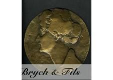 Plaque en bronze