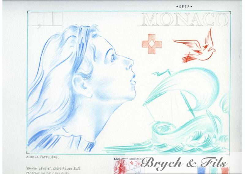 Epreuve d'artiste Sainte Dévote 2002
