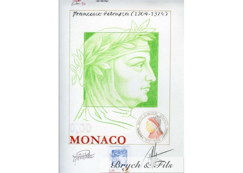 Epreuve d'artiste Projet Francesco Petrarca