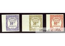 1919 Monaco Taxe N°14a-15a-16a Non Dentelé