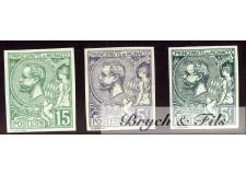1920-21 Monaco Poste N°44a-46a-47b Non Dentelé Albert Ier