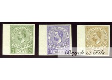 1910 Monaco Taxe N°8a-9a-10a Non Dentelé