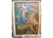 """""""Femme sous ombrelle"""" par DETTHOW"""