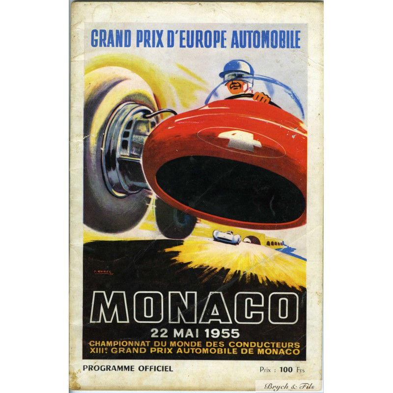 programme grand prix de monaco 1955 monaco timbres. Black Bedroom Furniture Sets. Home Design Ideas