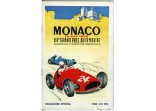 Programme Grand Prix Monaco 1956