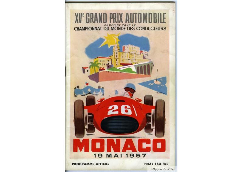 Programme Grand Prix de Monaco 1957