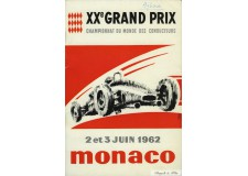Programme Grand Prix Monaco 1962