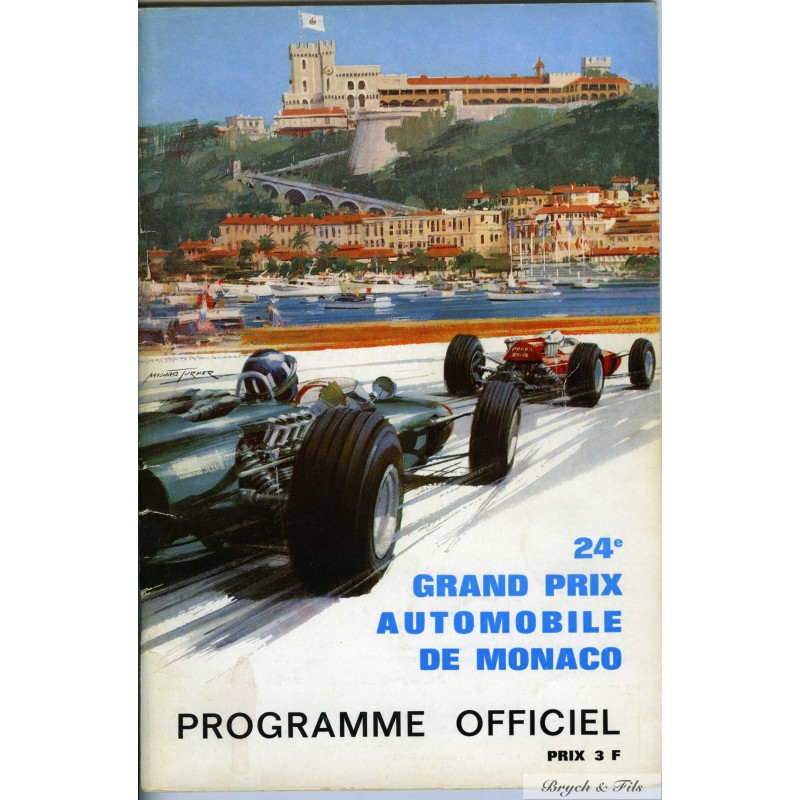 programme grand prix monaco 1966 monaco timbres. Black Bedroom Furniture Sets. Home Design Ideas