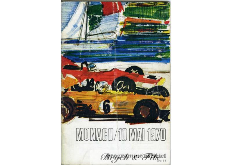 programme grand prix monaco 1970 monaco timbres. Black Bedroom Furniture Sets. Home Design Ideas