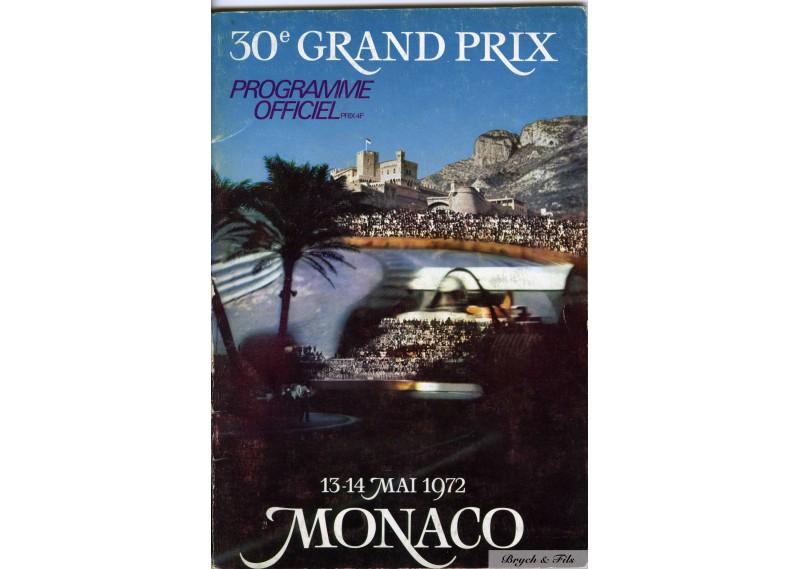 Programme Grand Prix Monaco 1972 avec Signatures