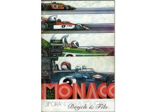 Programme Grand Prix Monaco 1973 with autographs