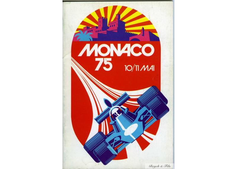 programme grand prix monaco 1975 monaco timbres. Black Bedroom Furniture Sets. Home Design Ideas