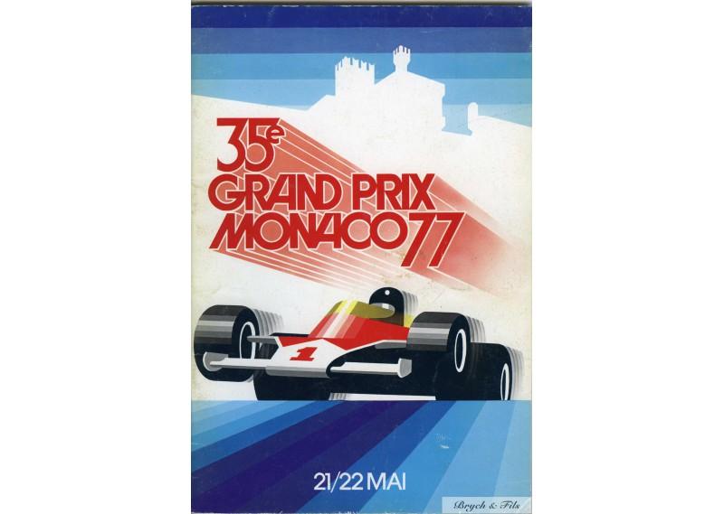 Programme Grand Prix Monaco 1977