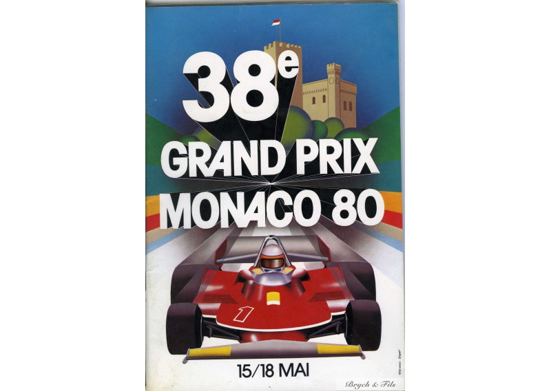 Programme Grand Prix Monaco 1980