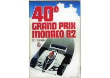 Programme Grand Prix Monaco 1982 with Pass