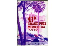 Programme Grand Prix Monaco 1983 with Pass