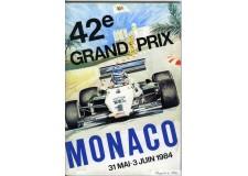 Programme Grand Prix Monaco 1984 with Pass