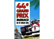Programme Grand Prix Monaco 1986 with Pass