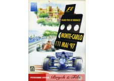 Programme Grand Prix Monaco 1997(avec Pass)
