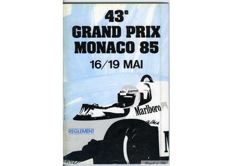 Règlement Grand Prix Monaco 1985