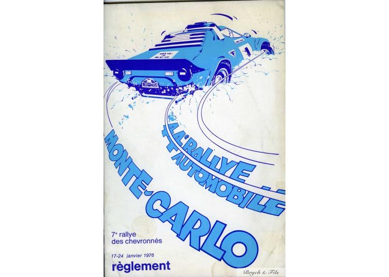 Programme Rallye Monaco 1976