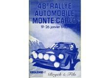 Programme Rallye Monaco 1980