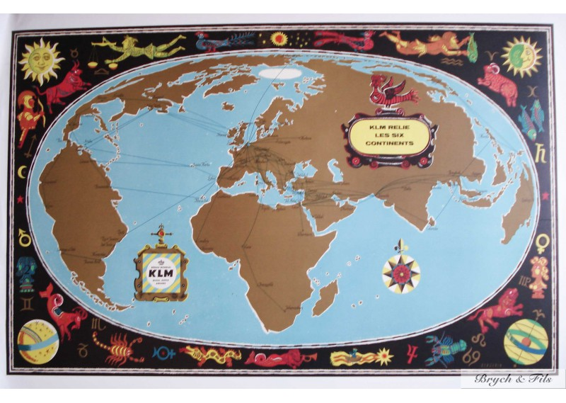 KLM relie les 6 Continents