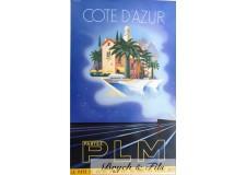 """Affiche originale """"PLM Côte d'Azur"""""""