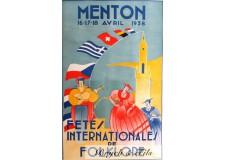 "Affiche originale ""Fêtes internationales folklore"""