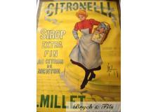 """Affiche originale """"Sirop Citronelli Bordeaux 1902"""""""