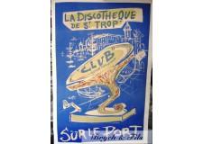 """Affiche originale """"Discothèque St Trop"""""""