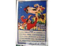 "Affiche originale ""Carnaval de Nice 1919"""