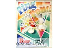 "Affiche originale ""Bar Ping pong"""