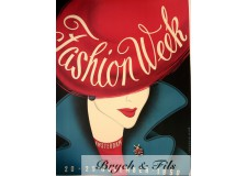 "Affiche originale ""Fashion week Amsterdam 1950"""