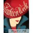 """Affiche originale """"Fashion week Amsterdam 1950"""""""