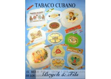 Tabaco Cubano (affiche bleue)
