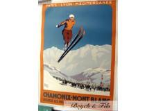 "Affiche originale ""Chamonix Mont Blanc"""