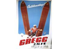 """Affiche originale """"Gregg skis"""""""
