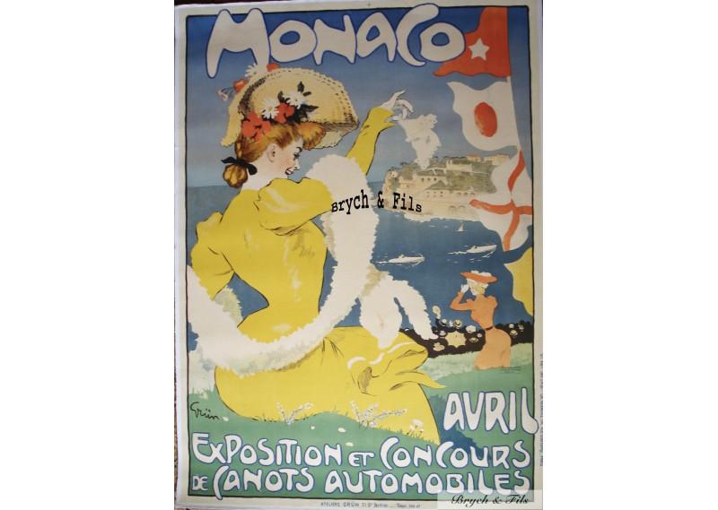 Exposition et Concours de Canots Automobiles (Jaune-Yellow)