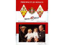 2017 MONACO BU OFFICIEL 8 PIECES DU 2 EUROS au 1 CT COFFRET SOUS BLISTER
