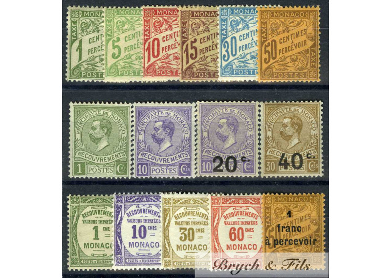 Taxe 1905/1925 (Sauf N°4 et 10) xx