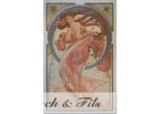 "Affiche originale A.Mucha ""Les arts"""