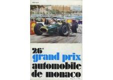 Programme Grand Prix Monaco 1968