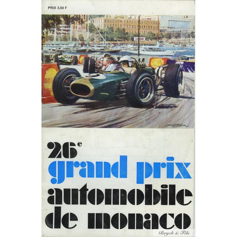 programme grand prix monaco 1968 monaco timbres. Black Bedroom Furniture Sets. Home Design Ideas