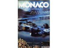 Programme Grand Prix Monaco 1974 with Pass