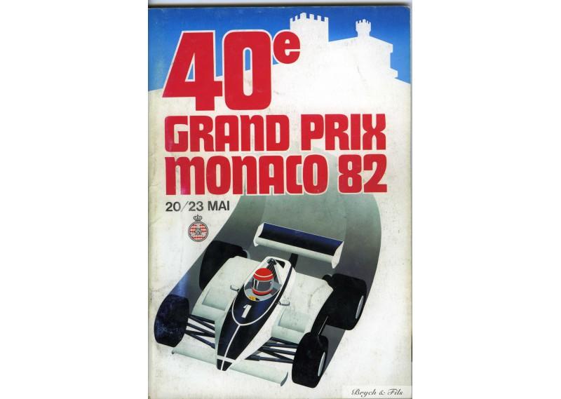 Programme Grand Prix Monaco 1982